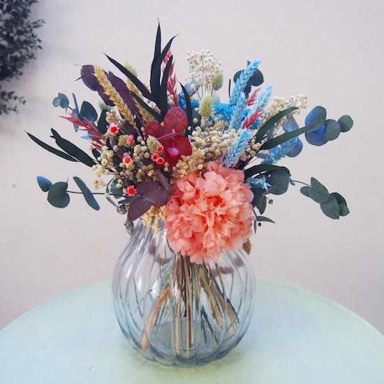 jarrón flores preservadas