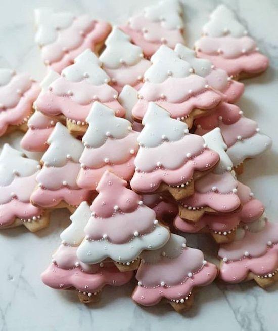 galletas navideñas rosa