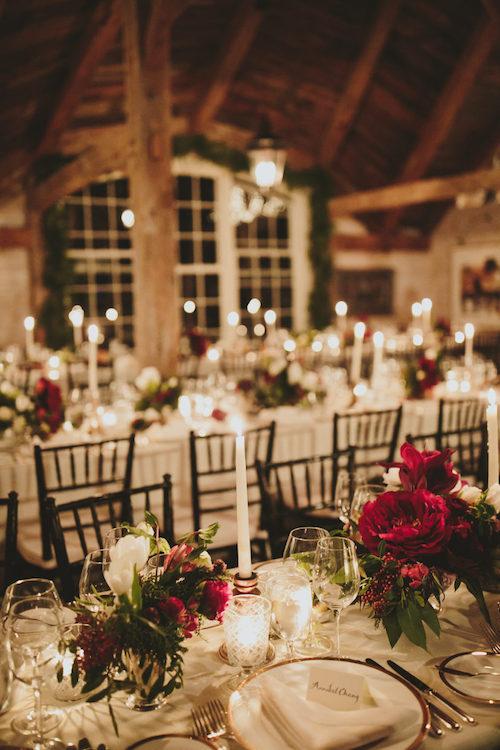 mesa navideña boda