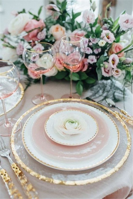 mesa rosa navidad