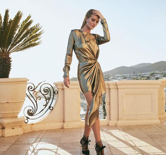 vestido dorado nochevieja 2019