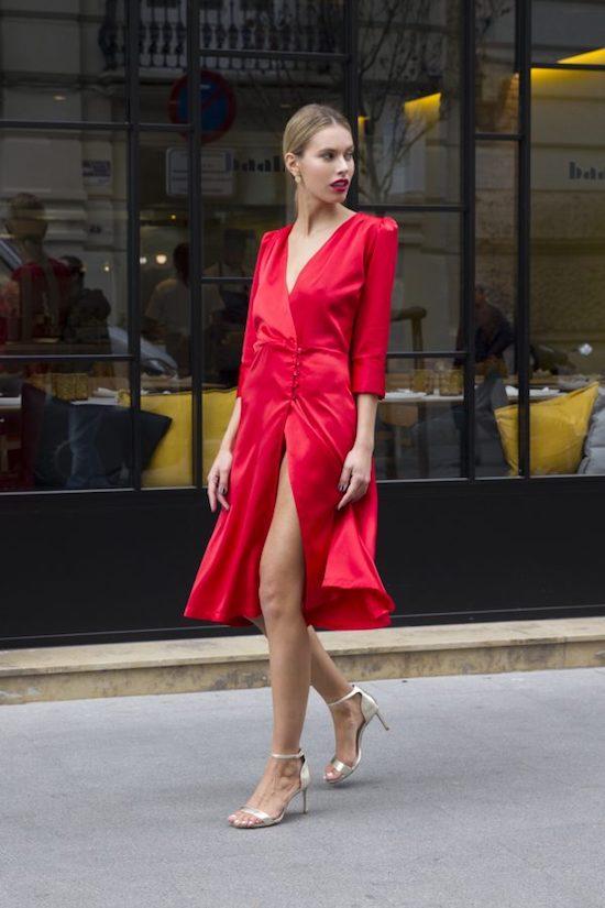vestido rojo nochevieja