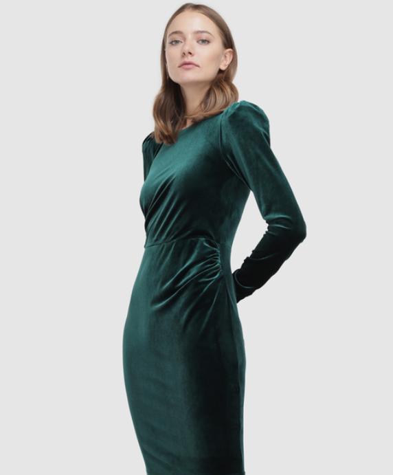 vestido terciopelo verde esmeralda nochevieja