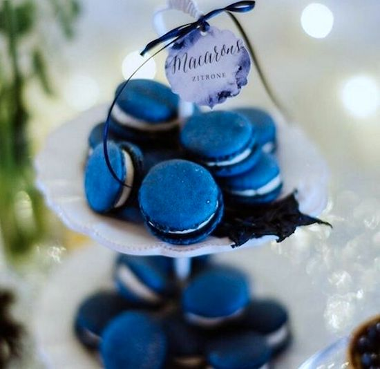 macarons classic blue bodas 2020 candy bar
