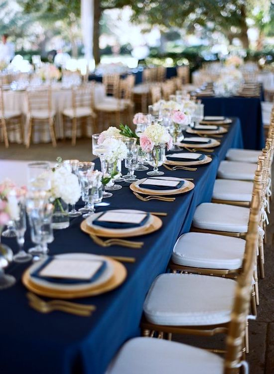 banquete mantel classic blue bodas 2020