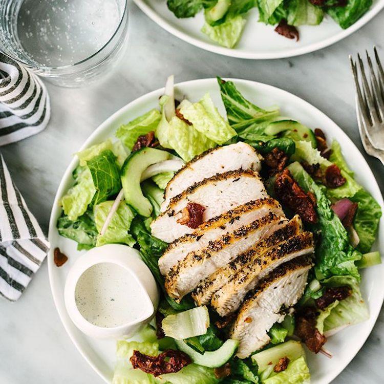 plato dieta saludable pollo