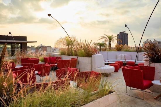 azimuth rooftop bar hotel almanac barcelona