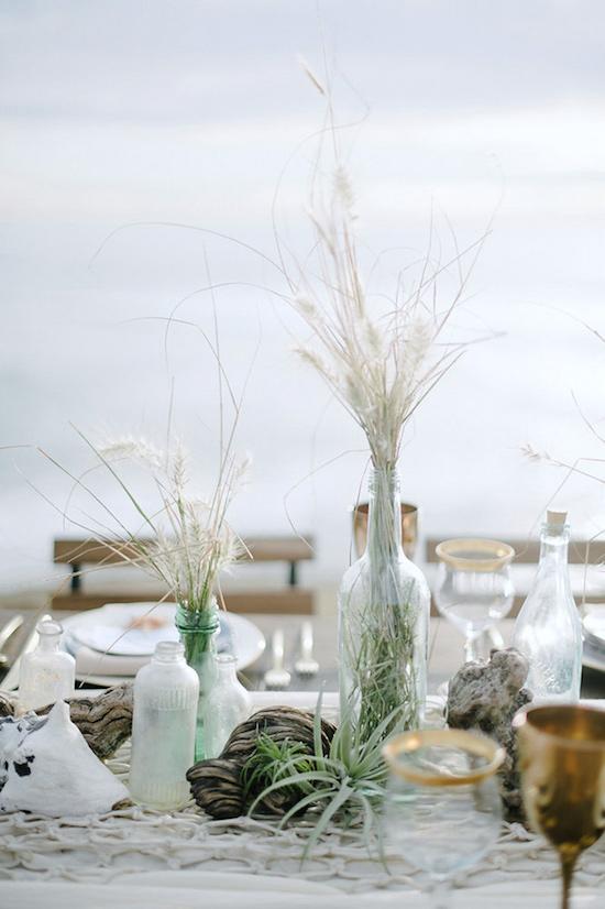 decoración jarrones boda día sostenible y eco chic