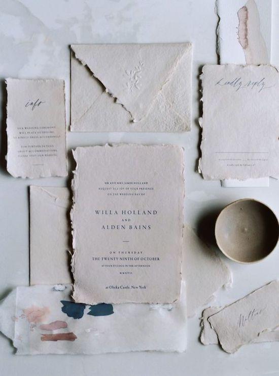 invitación papel reciclado boda sostenible y eco chic