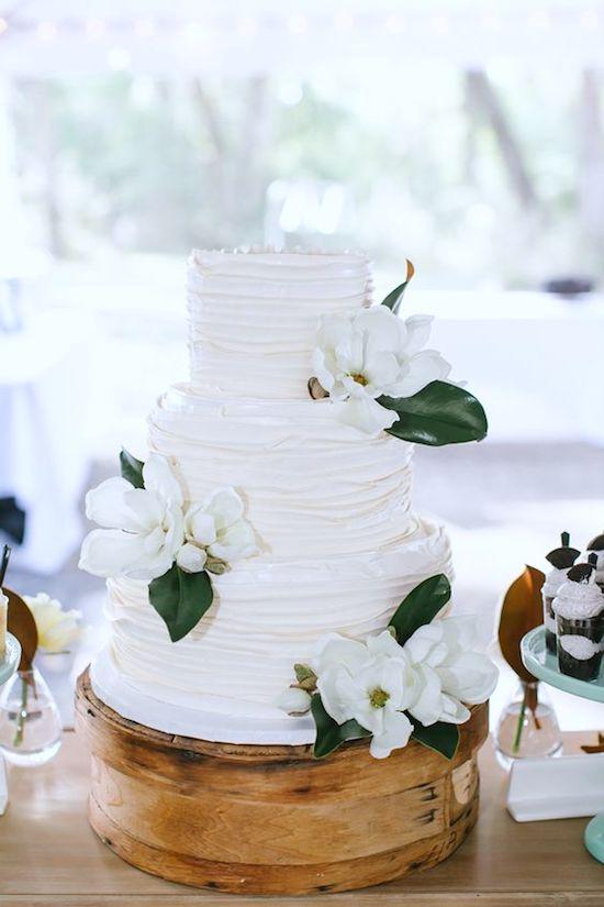 pastel nupcial boda magnolia